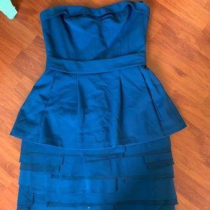 NWOT Blue BCBG Max Azria Strapless Blue Dress Sz 2